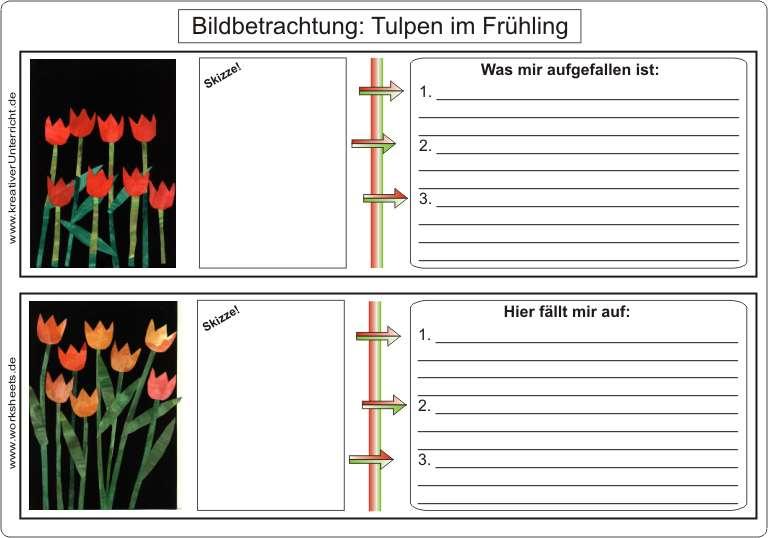 Tulpen im Frühling auf Tonpapier