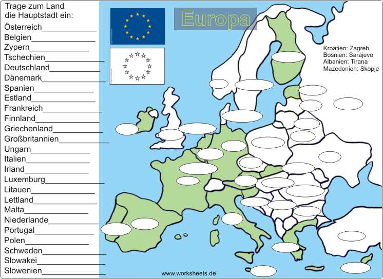 united states of europe europa 25 l nder 25 hauptst dte. Black Bedroom Furniture Sets. Home Design Ideas