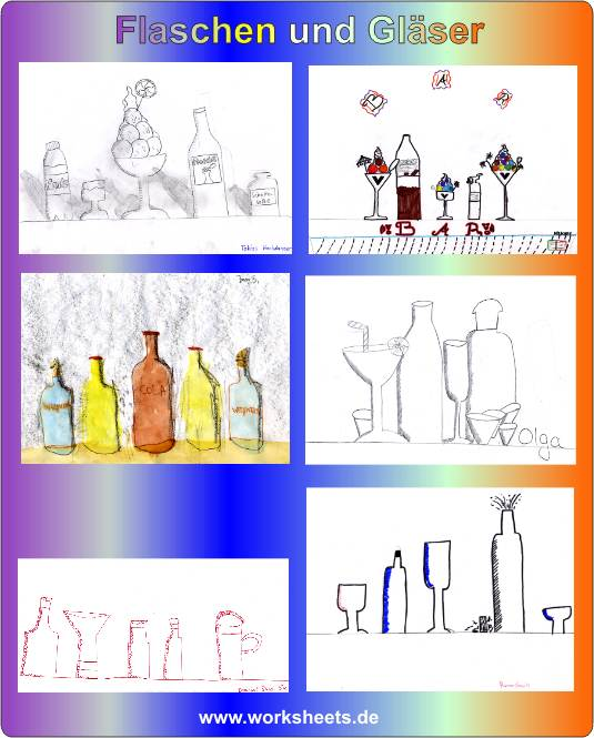 flaschen und gl ser hauptschule klasse 6. Black Bedroom Furniture Sets. Home Design Ideas