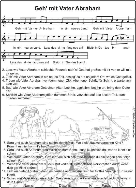 Vater Abraham Text