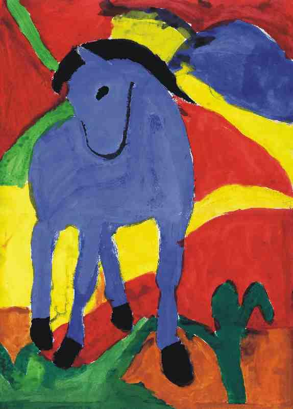 das blaue pferd von franz marc