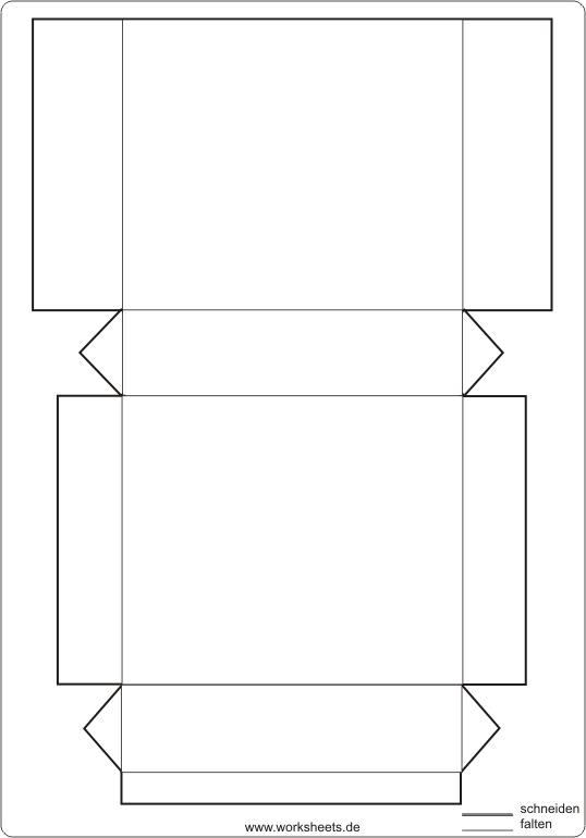 w rfel und quader basteln. Black Bedroom Furniture Sets. Home Design Ideas
