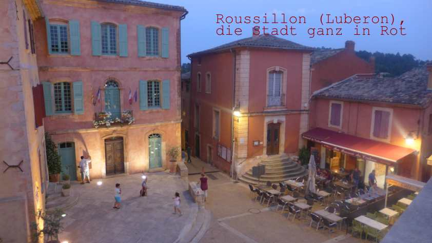 Roussillon-Stadt in Rot1