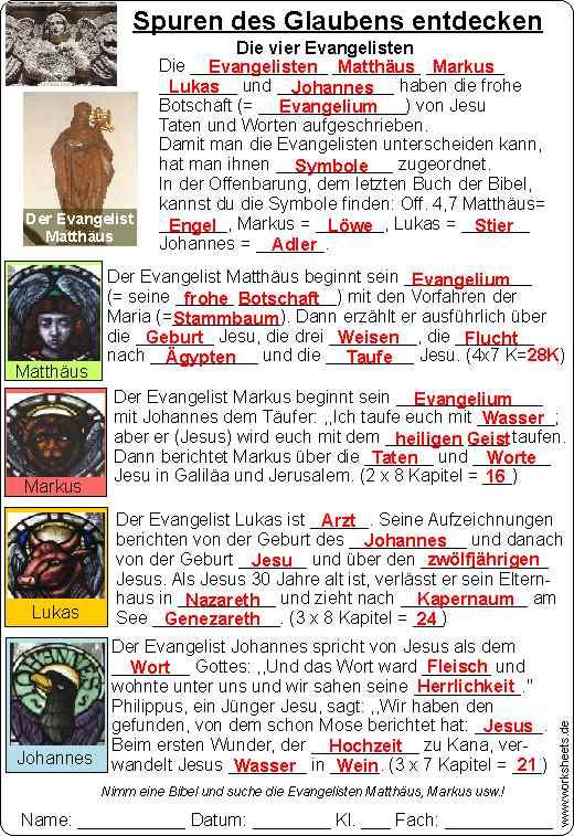 Die vier Evangelisten Symbole - Spuren des Glaubens 2