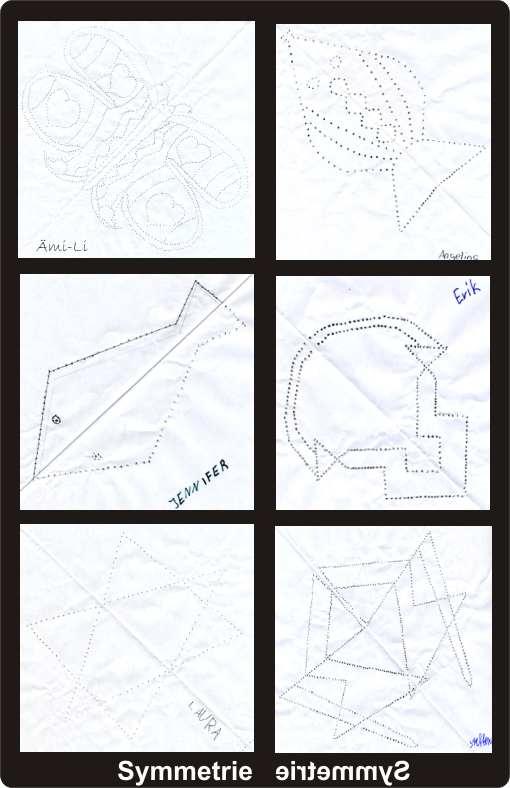 symmetrie mit nadelstichen. Black Bedroom Furniture Sets. Home Design Ideas