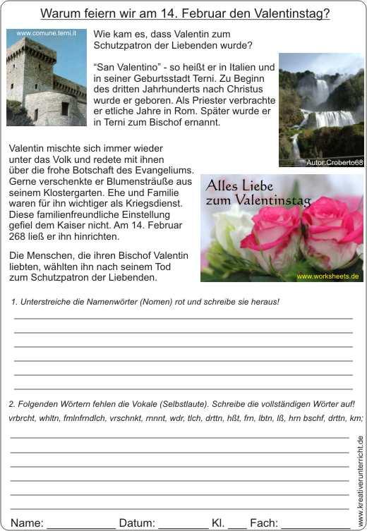 Alles Liebe zum Valentinstag - Karte -Geschichte