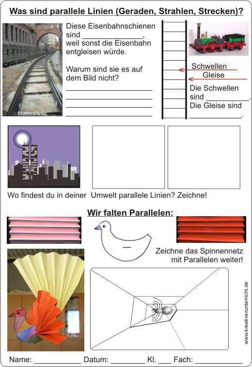Parallelen Was sind parallele Linien