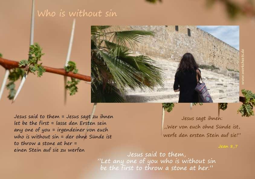Wer Von Euch Ohne Sünde Ist