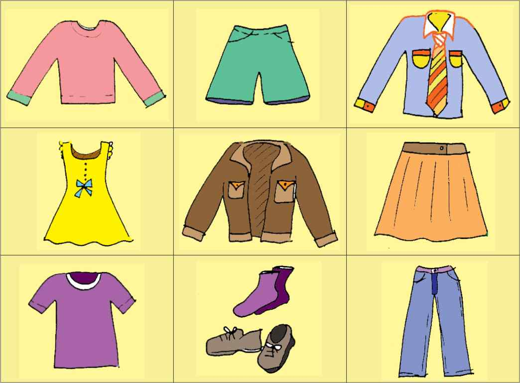Clothes printable activities